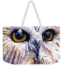 Owl Weekender Tote Bag by John D Benson