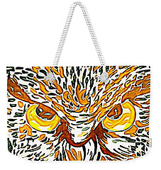Weekender Tote Bag featuring the mixed media Owl by Lita Kelley