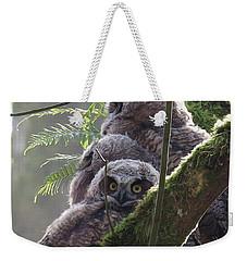 Owl Morning Weekender Tote Bag by I'ina Van Lawick
