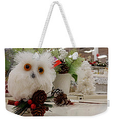 Owl On The Shelf Weekender Tote Bag by Betty-Anne McDonald