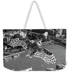 Owl Over The Tower Weekender Tote Bag by Roger Lighterness