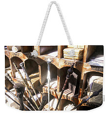 Weekender Tote Bag featuring the photograph Owl Post Office Hogsmeade by Juergen Weiss