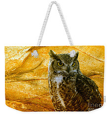 Owl Weekender Tote Bag by Teresa Zieba