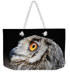 Weekender Tote Bag featuring the photograph Owl The Grand-duc by Mary-Lee Sanders