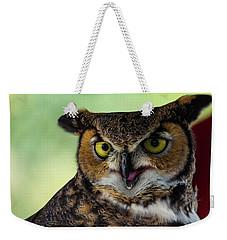 Owl Tongue Weekender Tote Bag