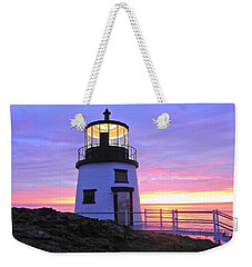 Owls Head Light Weekender Tote Bag