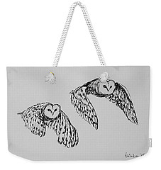 Owls In Flight Weekender Tote Bag