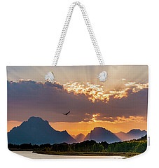 Oxbow At Sunset Weekender Tote Bag by Mary Hone