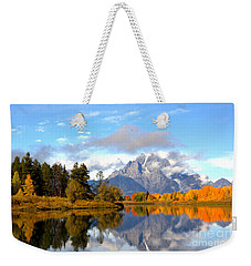 Mt Moran At Oxbow Bend Weekender Tote Bag