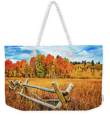 Oxbow Bend Fall Color Weekender Tote Bag