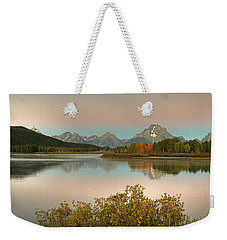 Weekender Tote Bag featuring the photograph Oxbow Bend by Gary Lengyel