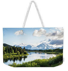 Oxbow Bend In The Grand Teton National Park Weekender Tote Bag by Serge Skiba