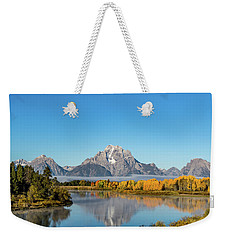 Oxbow Bend Reflecting Weekender Tote Bag by Mary Hone