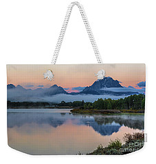Oxbow Bend Sunrise- Grand Tetons Version 2 Weekender Tote Bag