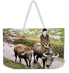 Oxen Day Off.cambodia Weekender Tote Bag