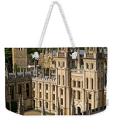 Weekender Tote Bag featuring the photograph Oxford Spires by Brian Jannsen
