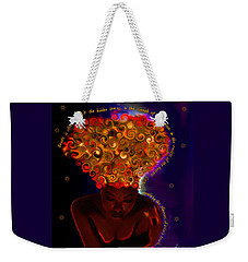Weekender Tote Bag featuring the digital art Oya by Iowan Stone-Flowers