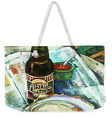 Oyster And Amber Weekender Tote Bag