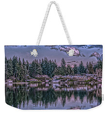 Weekender Tote Bag featuring the photograph Oyster Bay 1 by Timothy Latta