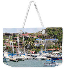 Weekender Tote Bag featuring the photograph Oyster Bay Marina by Margaret Bobb