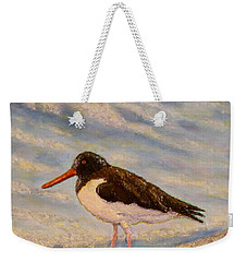 Weekender Tote Bag featuring the painting Oyster Catcher by Joe Bergholm