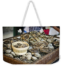 Oysters At The Market Weekender Tote Bag