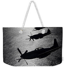 P-51 Cavalier Mustang With Supermarine Weekender Tote Bag