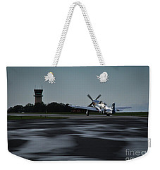 Weekender Tote Bag featuring the photograph P-51  by Douglas Stucky
