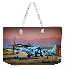 P-51d Mustang 'dakota Kid II. The Long Island Kid' And Casey Odegaard Weekender Tote Bag
