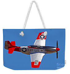 P-51d Mustang Flyby Weekender Tote Bag