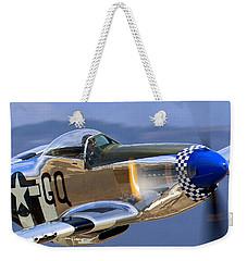 P51d Mustang At Salinas Weekender Tote Bag