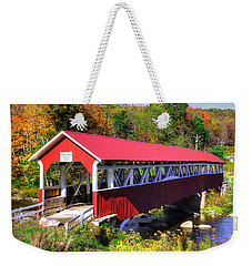 Pa Country Roads - Barronvale Covered Bridge Over Laurel Hill Creek - Autumn, Somerset County Weekender Tote Bag