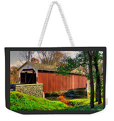 Pa Country Roads - Siegrists Mill Covered Bridge Over Big Chiques Creek No. 2 - Lancaster County Weekender Tote Bag