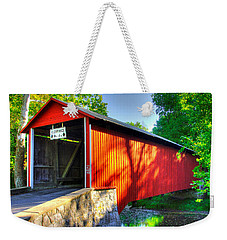 Pa Country Roads - Witherspoon Covered Bridge Over Licking Creek No. 4b - Franklin County Weekender Tote Bag