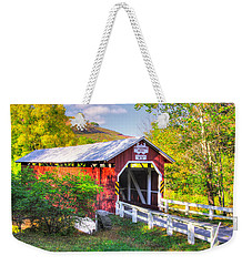 Pa Covered Bridges - New Baltimore Covered Bridge Over Raystown Branch Of Juniata River No. 5b  Weekender Tote Bag