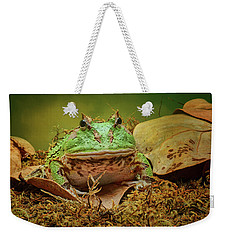 Weekender Tote Bag featuring the photograph Pac Man - Frog by Nikolyn McDonald
