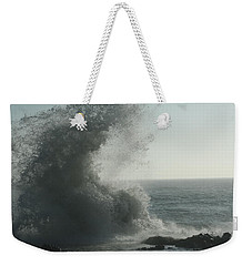 Pacific Crash Weekender Tote Bag by Laddie Halupa