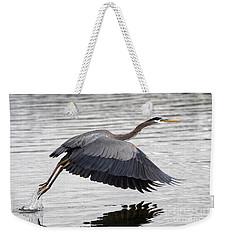 Pacific Great Blue Heron On Lift Off Weekender Tote Bag