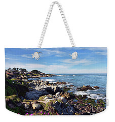 Weekender Tote Bag featuring the photograph Pacific Grove Shoreline by Gina Savage