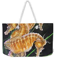 Pacific Lined Seahorse Trio Weekender Tote Bag