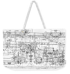 Pacific Locomotive Diagram Weekender Tote Bag