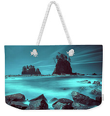 Pacific Moody Sea Stacks Weekender Tote Bag