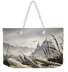 Pacific Northwest Driftwood Shore Weekender Tote Bag