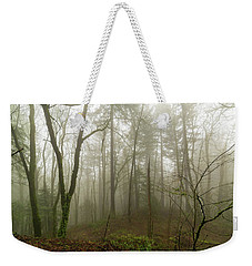 Pacific Northwest Foggy Morning Forest Scene Weekender Tote Bag