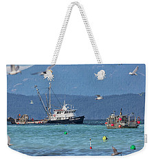 Weekender Tote Bag featuring the photograph Pacific Ocean Herring by Randy Hall