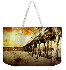 Weekender Tote Bag featuring the photograph Pacific Pier by Phil Perkins