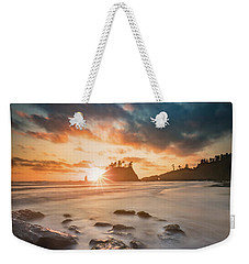 Weekender Tote Bag featuring the photograph Pacific Sunset At Olympic National Park by William Lee