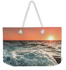 Pacific Sunset With Boat Wash Weekender Tote Bag by Jeremy Farnsworth