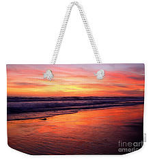 Weekender Tote Bag featuring the photograph  Cardiff Coast  by John F Tsumas