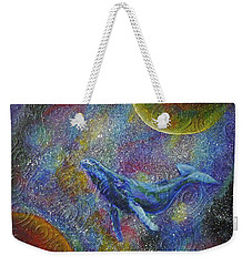 Pacific Whale In Space Weekender Tote Bag